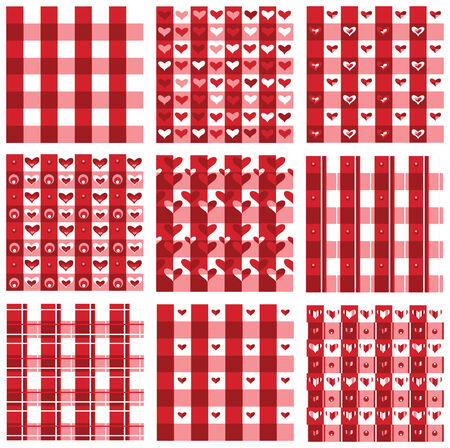 Seamless valentine pattern, red colors  Vector