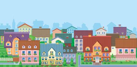 Townhouses Stock Vector - 8778160