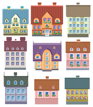 town modern home: Houses icons