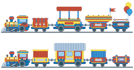 wagons: Train for kids design.