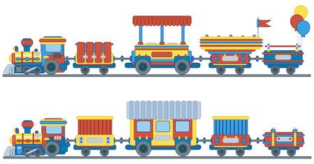 petit train: Train pour la conception des enfants. Illustration