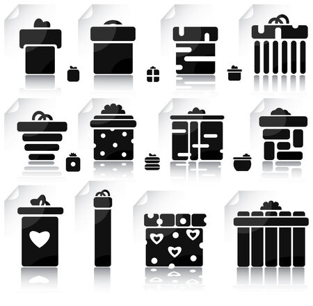 Set of gifts and elements for design Vector