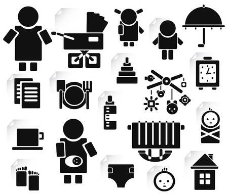 Set of family icons for design  Vector