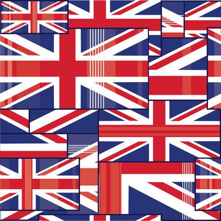 Seamless pattern of british flag. Vector