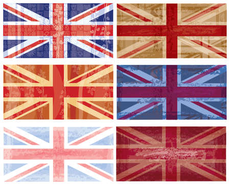 British flag grunge  Stock Vector - 8888898