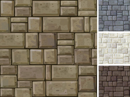 Seamless texture of stonewall  in different colors.