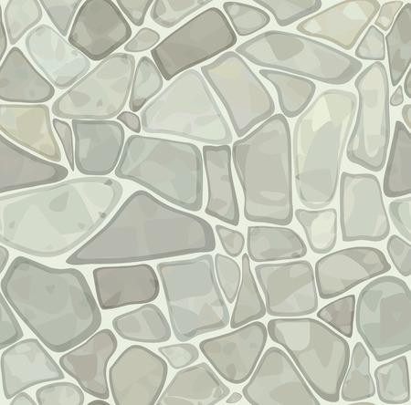 rubble: Textura transparente de stonewall en color blanco. Vectores