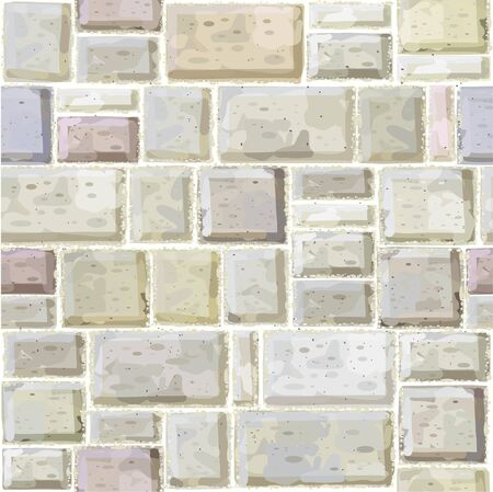Seamless texture of white  stonewall. Vector