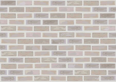Vector seamless brick wall. Illustration