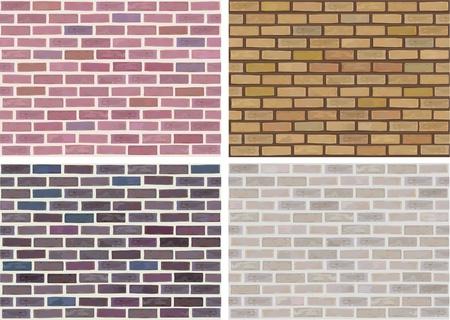 brick: Vector nahtlose Textur der Steine ??in verschiedenen Farben. Illustration