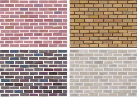 brick: Vector seamless texture of stones in different colors.