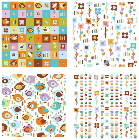 Seamless cute patterns for spring design.