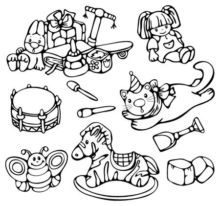 Kids toys. Vector