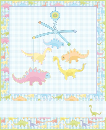 Card for baby boy. Stock Vector - 9291958