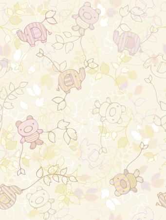 Seamless floral pattern for kid's design.