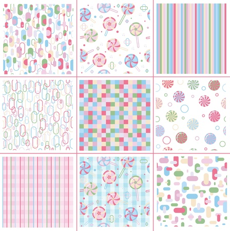 Seamless sweet patterns for design.