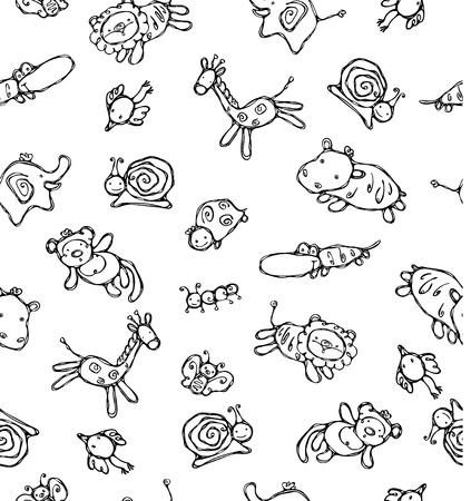 small reptiles: Seamless pattern di simpatici animali.