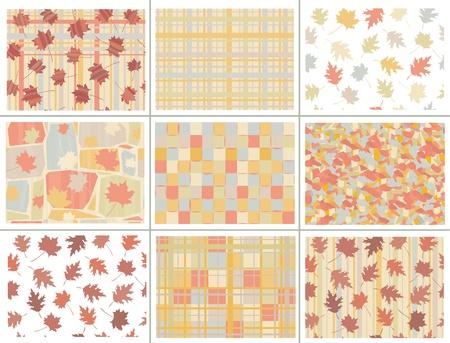 Seamless autumn patterns. Stock Vector - 9490512