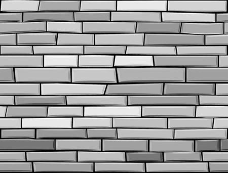 seamless brick wall made of grey bricks. Stock Vector - 10510475