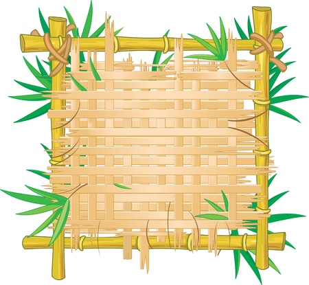 bamboo stick: Bamboo frame.