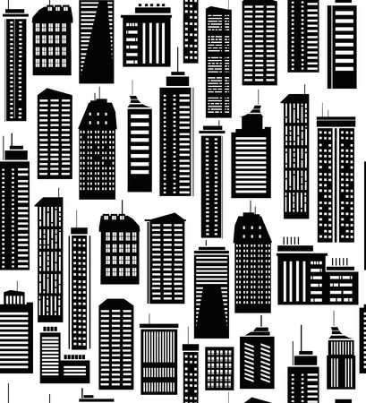 city scape: Seamless pattern of city