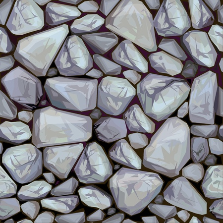 Vector seamless texture of stones in grey colors.  Иллюстрация