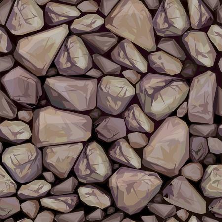 rubble: perfecta textura de las piedras en tonos marrones.
