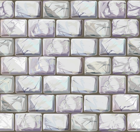 ashlar: Vector seamless texture of stones in white colors Illustration