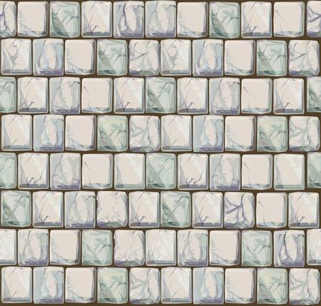 rubble: Perfecta textura de las piedras en los colores blancos. Vectores