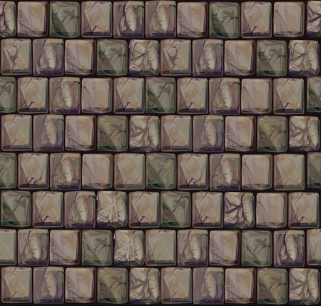 ashlar: Seamless texture of stones in brown colors.  Illustration