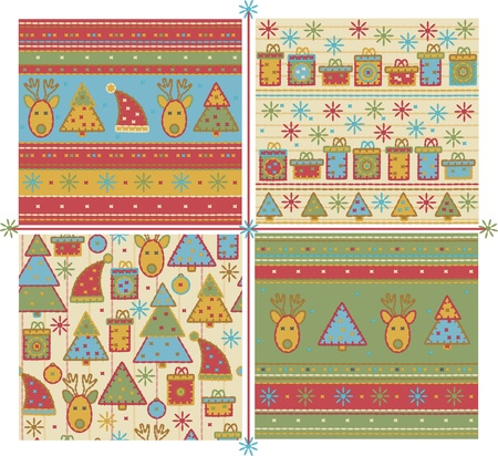 wrapping paper: Seamless Christmas pattern.