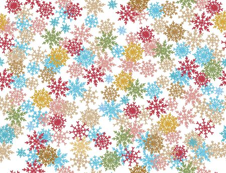 Seamless pattern of snowflakes.  Vector