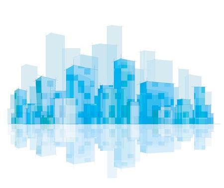 City skyline.  Vector