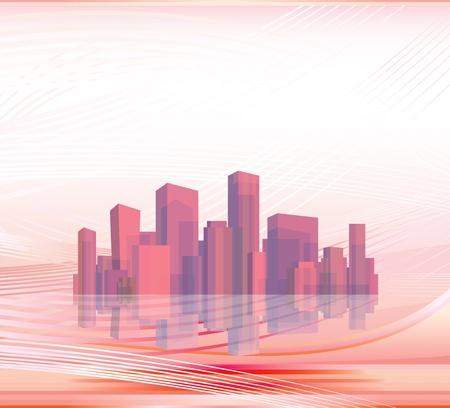 red light district: City skyline.