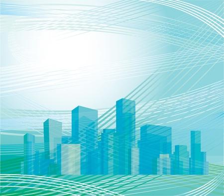 abstract city: City skyline.