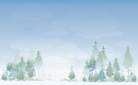 Winter landscape Stock Vector - 10936748