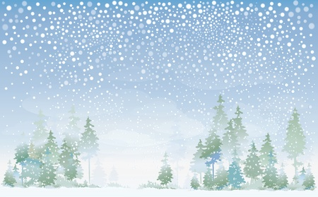 Winter landscape Stock Vector - 10936749