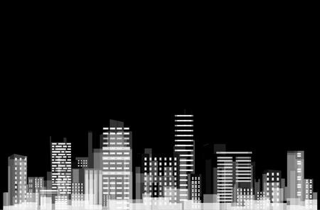촉각 근: 도시의 파노라마입니다. 일러스트