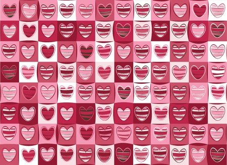 Seamless pattern of hearts for Valentine