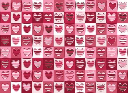 발렌타인 데이에 대한 마음의 원활한 패턴