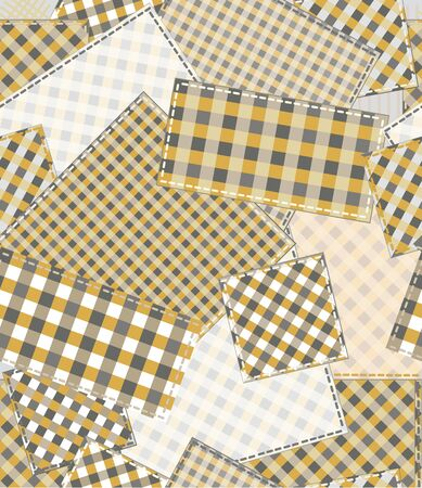 Seamless checked pattern, patchwork. Vector