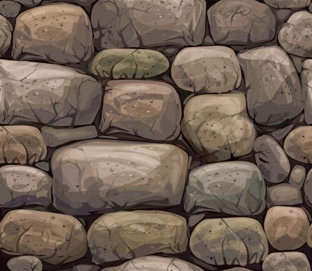 자갈: 갈색 색상에서 돌의 원활한 질감 일러스트