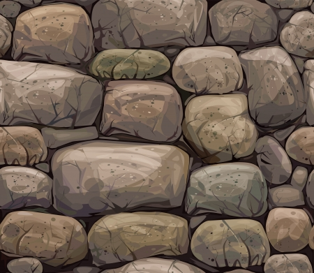 seamless texture of stones in brown colors  Vector