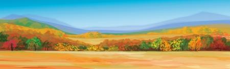 가을 풍경의 벡터