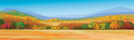 autumn landscape: Vector of autumn landscape