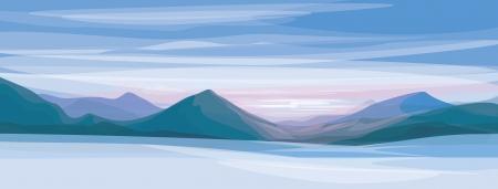 river rock: paesaggio invernale