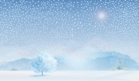 winter landscape Stock Vector - 13834612