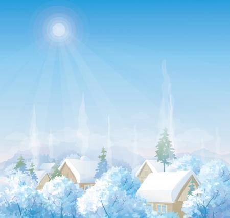 coberto de neve: paisagem de inverno