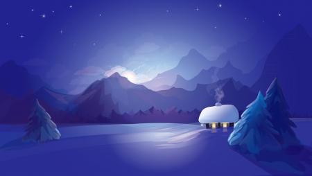 winter landscape Stock Vector - 13834632