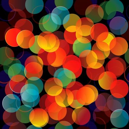 luces navidad: Luces de colores de fondo sin fisuras